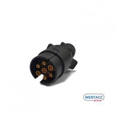WESTACC PVC 유럽식 7핀 플러그(커넥터)(수)